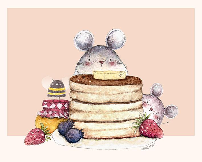 Foto: Tita tintero. Pancakes