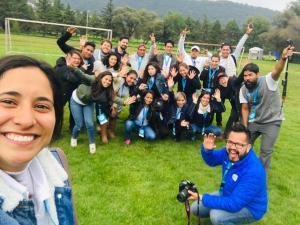 Foto: cortesía de Gaby Reséndiz. Día de la familia con IBM