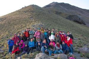 Foto: cortesía de Gaby Reséndiz. Campamento a la Malinche