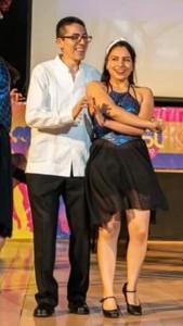 Foto: Cortesía de Gerardo. Durante la presentación de la coreo.