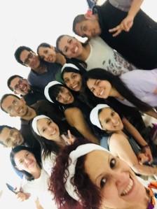 Foto: Cortesía de Gerardo. Foto grupal de los integrantes de la coreo día previo a la presentación.